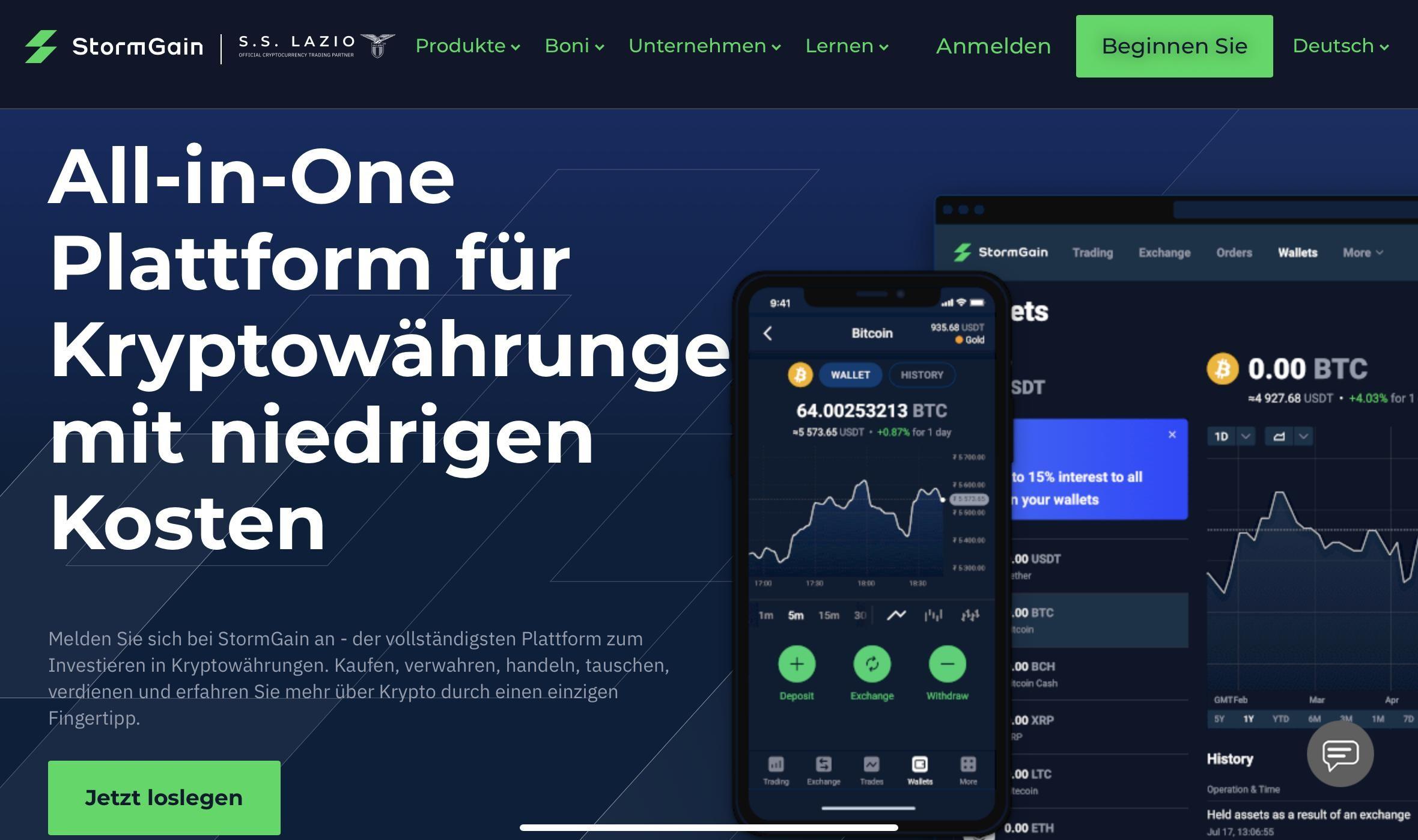 All-in-One Plattform für Kryptowährunge mit niedrigen Kosten